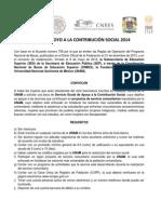 Convocatoria Contribución Social Fund UNAM 2014 CNBES 006