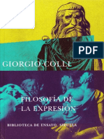 Filosofía de la expresión - Giorgio Colli