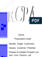 RCPA Prescription Audit  Identify Target Customers  Assess Customer