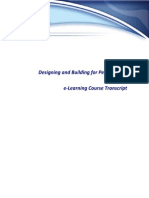 Design-Build for Performance E-Learning Course Transcript
