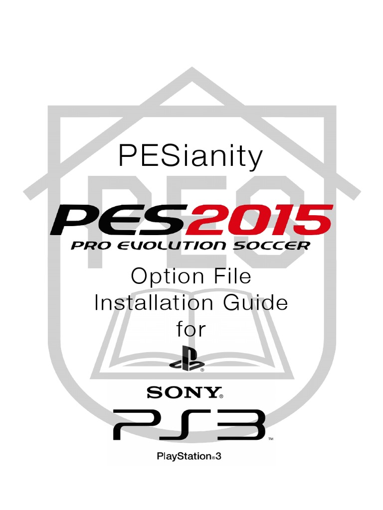 PESianity PES2015 Option File Installation Manual for PS3