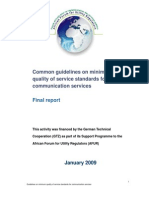 AFUR Final QoS Guidelines Report ENG - 19 Jan 09