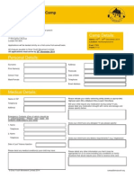 Winter Camp 2014 Application Form Editable