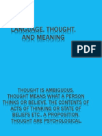 Lang, Thought and Meaning