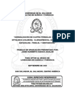 """NORMALIZACIÓN DE CUATRO FÓRMULAS PARA USO OFTÁLMICO (COLIRIOS)"