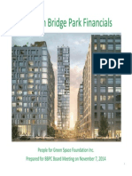 People for Greenspace presentation on BBP financing