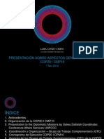 Presentación sobre aspectos generales de la COP20 I CMP10 a representantes de Embajadas y Delegaciones Diplomáticas en el Perú