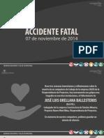 Reflexion Accidente Fatal 07 Nov