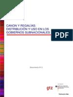 Canon y Regalias 2008
