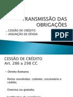 SLIDES AULA 29-10-14 (Data 29-10-2014 23h34m) Transmissão das Obrigações (1).ppt