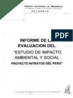 Informe de La Evaluación Del Estudio de Impacto Ambiental y Social