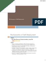 The Economics of Self-employment