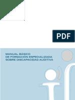 MANUAL BÁSICO  DE FORMACIÓN ESPECIALIZADA SOBRE DISCAPACIDAD AUDITIVA