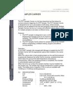 PVT Sampler Carrier