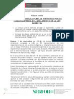 BAGUA CONGREGA A PUEBLOS INDÍGENAS POR LA CONSULTA PREVIA DEL REGLAMENTO DE LA LEY FORESTAL