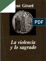 La Violencia y Lo Sagrado GirardI