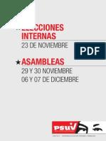 ELECCIONES INTERNAS DEL PRÓXIMO 23 DE NOVIEMBRE Y ASAMBLEAS DEL 29 Y 30 DE NOVIEMBRE, 06 Y 07 DE DICIEMBRE