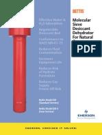 Emerson MolecularSieve Product Info