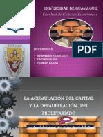 LA ACUMULACIÓN DEL CAPITAL Y LA DEPAUPERACIÓN  DEL  PROLETARIADO
