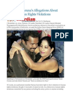 Sri Lanka Karuna's Allegations About IPKF's Human Rights Violations