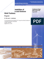 Aeroelastic Instabilities of Large Offshore and Onshore Wind Turbines