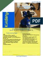 November 10 Kindergarten Newsletter
