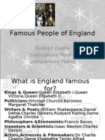 Famous People of England