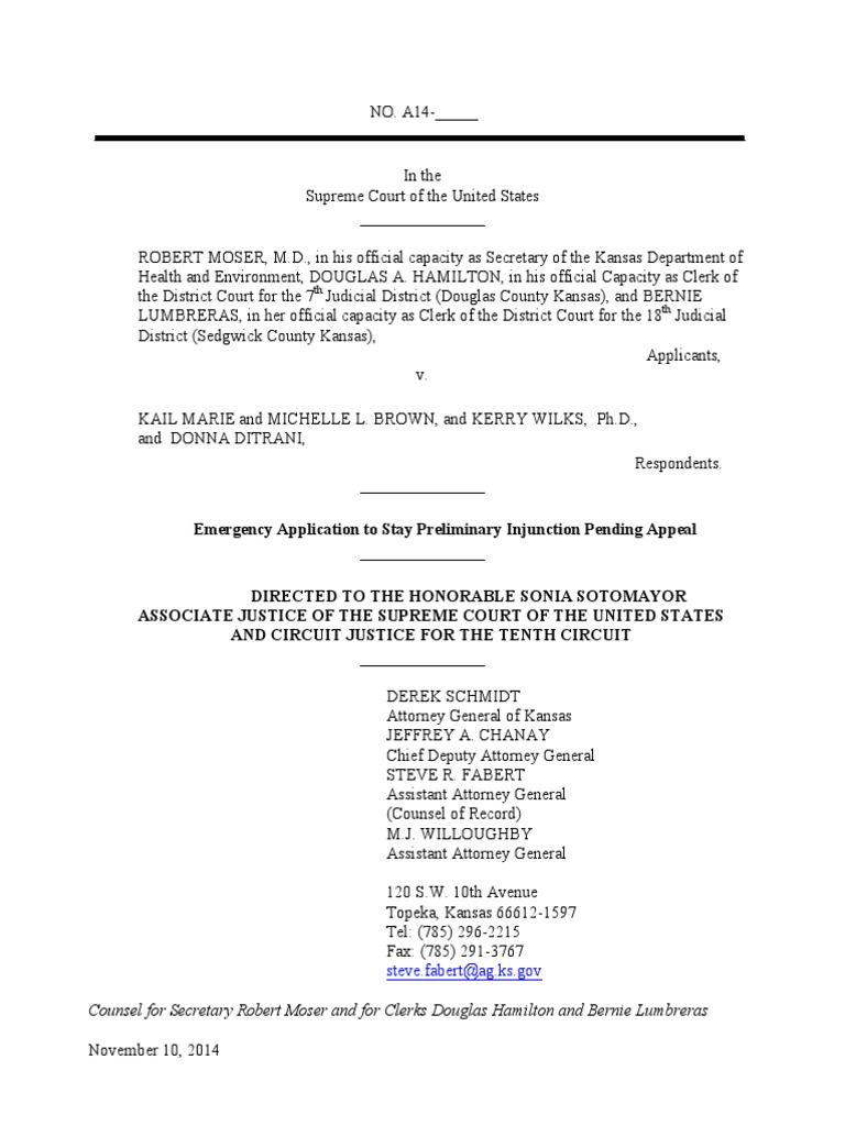 14a503 kansas application same sex marriage in oklahoma 14a503 kansas application same sex marriage in oklahoma supreme court of the united states xflitez Gallery