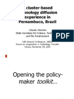 A cluster-based technology diffusion experience in Pernambuco, Brazil