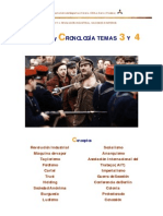 CONCEPTOS  Y CRONOLOGÍA 4º ESO. TEMAS 3 Y 4