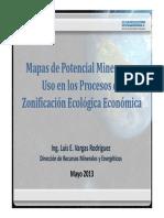 Potencial Minero Proexplo2013