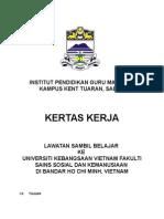 Kertas Kerja Lawatan Sambil Belajar Ke Vietnam