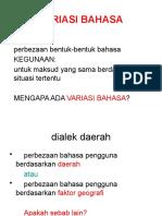 variasi bahasa