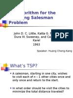 Algorithm A Traveling Salesman Problem