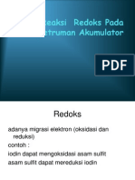 Reaksi Redoks Pada Penyetruman Akumulator