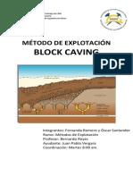 Informe Block Caving