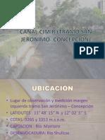 Canal Cimirm (Tramo San Jerónimo- Concepción)