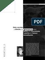 19514-31099-1-PBLa Ignorancia Como Política de Conocimiento y Práctica