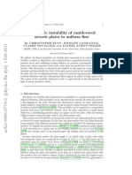 Aeroelastic Instability of Cantilevered Flexible Plates in Uniform Flow