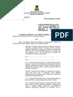 Lei Complemente 19, 2003. (Altera o Código Tributário)