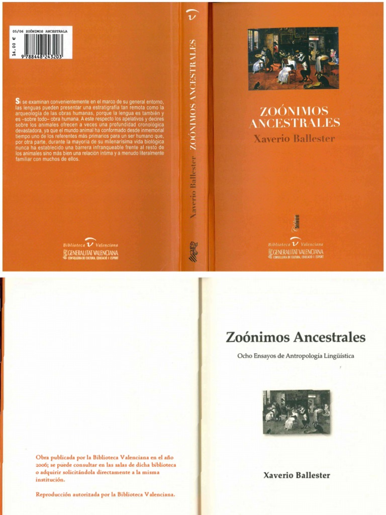 Zoonimos Ancestrales