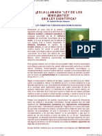 ¿Es La Llamada _ley de Los Semejantes_ Una Ley Científica_ Dr. Gabriel Hernán Gebauer