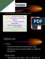 PRINCIPIOS DE LOS TITULOS VALORES