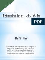 Hématurie en Pédiatrie