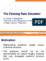 The Passing Rate Simulator