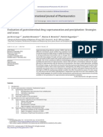 Bevernage, IJP, 2013, Evaluation of Gastric Drug Supersaturation and Precipitation