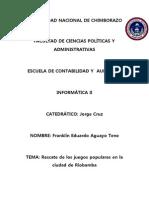 Rescate de Los Juegos Populares en La Ciudad de Riobamba