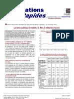 La dette publique française à fin septembre 2009