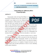 Uniform Embedding for Efficient JPEG Steganography - IEEE Project 2014-2015