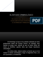 EL ESTUDIO CRIMINOLOGICO